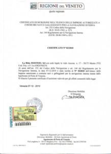 Certificato cantiere navale regione veneto1